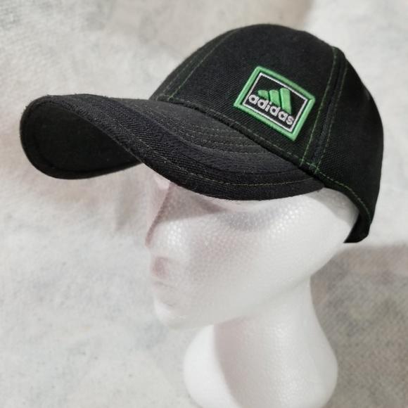 cf8f609ab2423 Adidas Other - Adidas One-Size Black Hat w  Green Box Embroidery